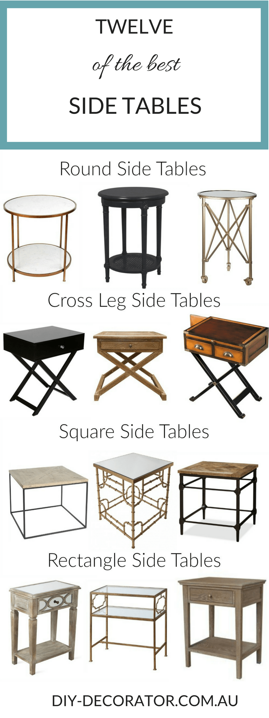 What S The Right Height For A Side Table With Images Diy Side Table Rectangle Side Table Diy Table