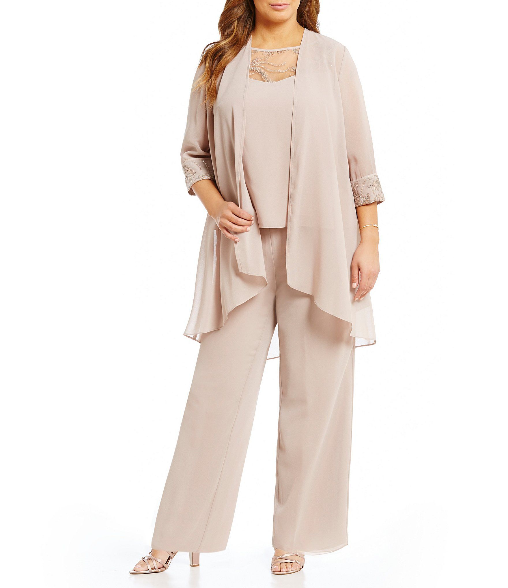 b6abc9b2918 Shop for Le Bos Plus Chiffon Embroidered 3-Piece Pant Set at Dillards.com.  Visit Dillards.com to find clothing