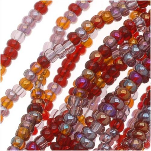 CZECH SEED BEADS MIX LOT 110 VINEYARD PURPLEMAUVEAMBER 12 HANK from beadaholique.com