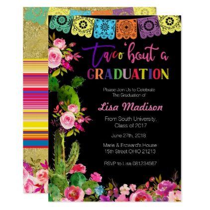 Mexican Graduation Party Invitation Fiesta Zazzle Com In