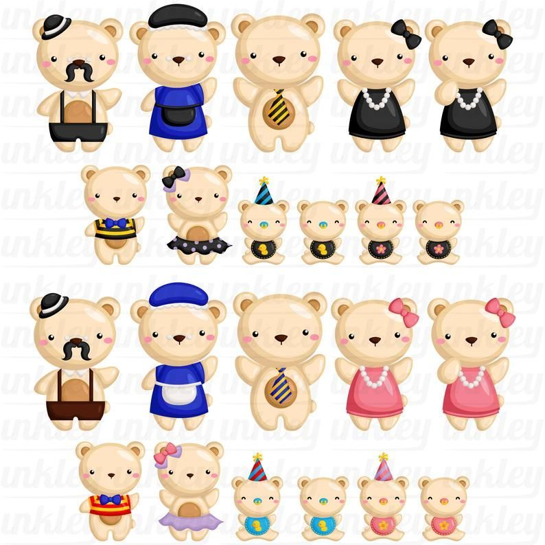 Family Of Bears Clipart Cute Bear Clip Art Cute Animal Clipart Free Svg On Request Cute Animal Clipart Animal Clipart Free Animal Clipart