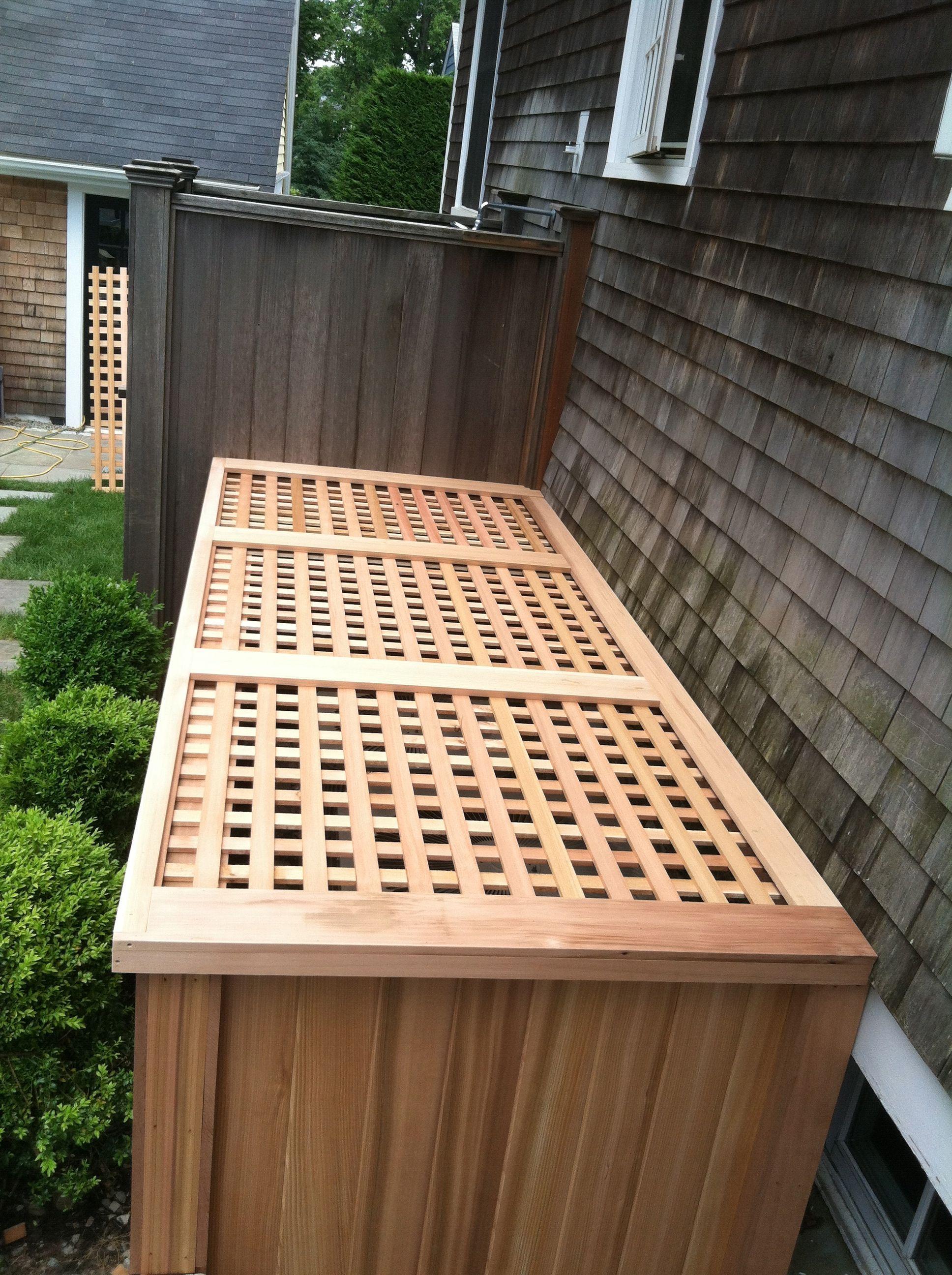 Custom built ac unit cover air conditioner hide outdoor