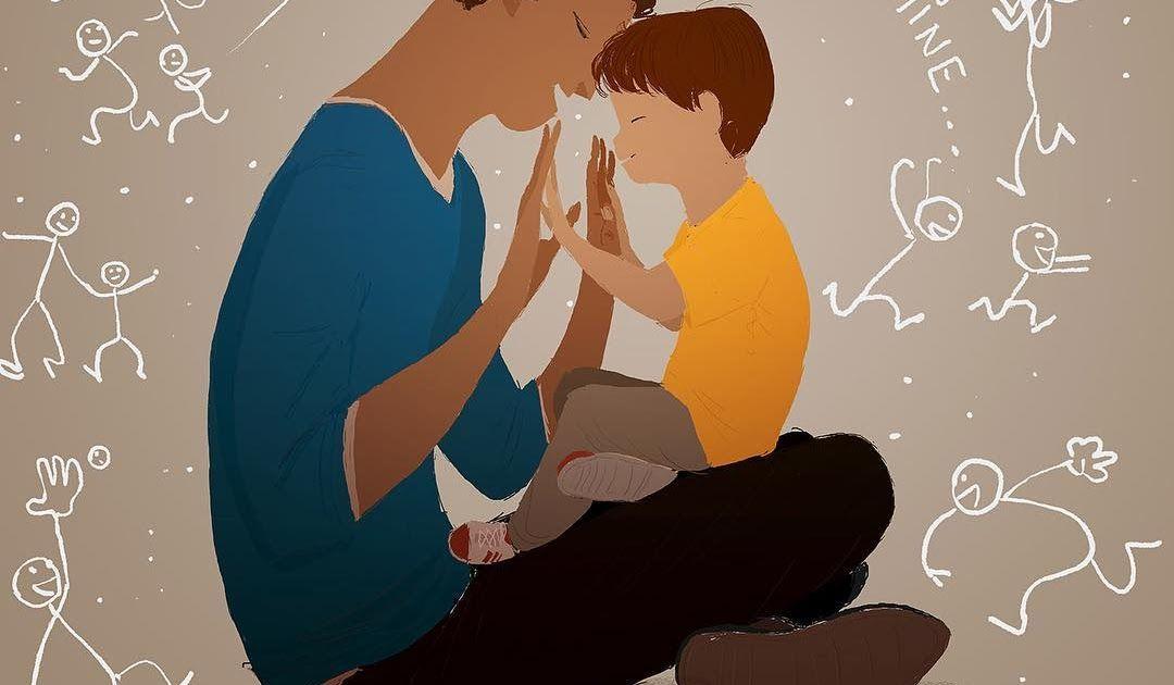 Wow 30 Gambar Kartun Ayah Dan Anak Sedih 24 Ilustrasi Menyentuh Ini Jadi Bukti Ayah Adalah Pahlawanmu Download Kartun Memakai Popo Di 2020 Kartun Gambar Anak Laki