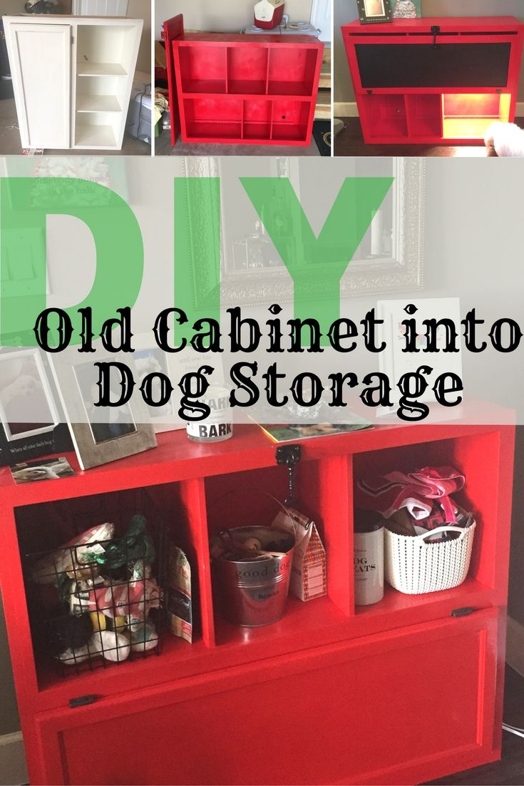 Diy Turn An Old Cabinet Into A Storage Unit For Your Dog Habitat For Humanity Restore Old Cabinets Storage Dog Storage