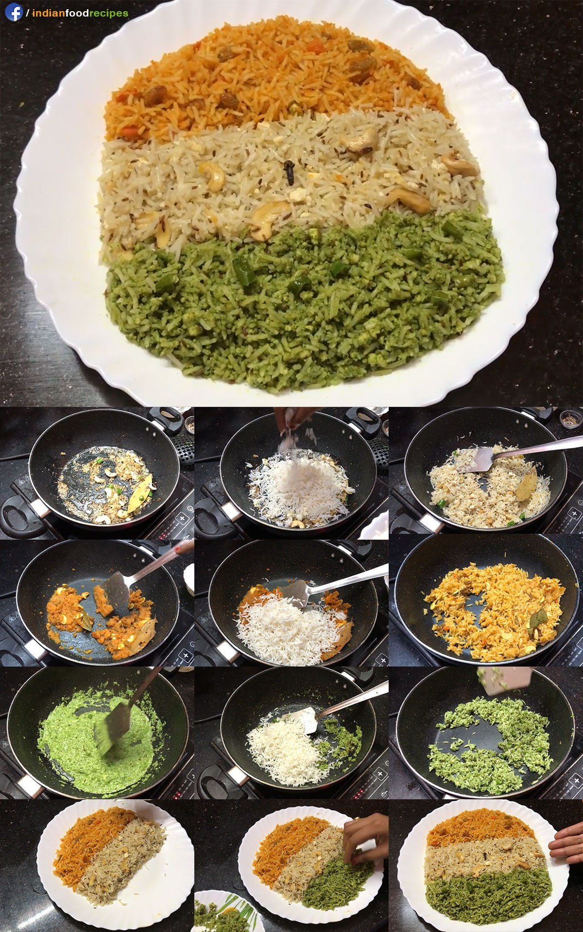 Tricolor pulao tiranga pulav recipe step by step all indian food tricolor pulao tiranga pulav recipe step by step forumfinder Image collections