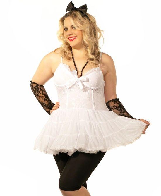 80s Girl Plus Size Womens Costume Heaven Fancy Dress Costumes
