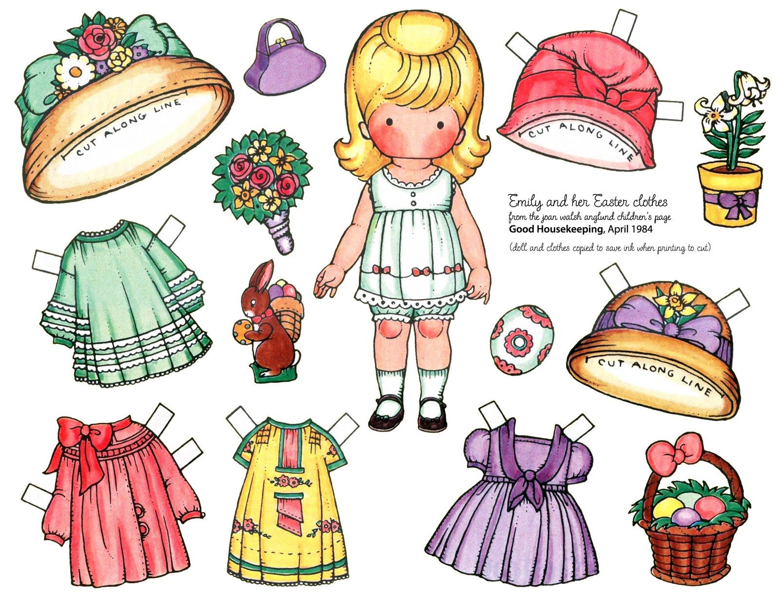 Free Paper Dolls to Print | adorable Joan Walsh Anglund paper doll ...