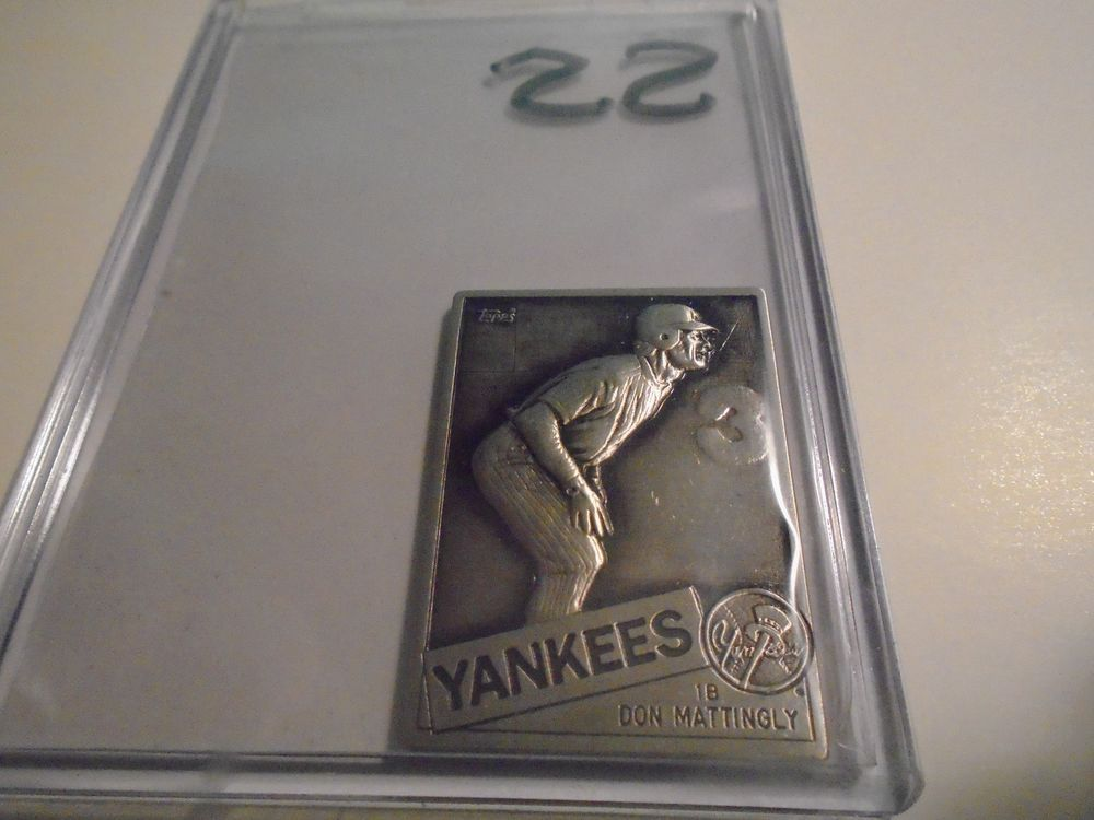 1985 Topps Gallery Of Champions Sterling Silver Don Mattingly Yankees Rare Newyorkyankees Yankees Donmattingly Don Mattingly Sterling Silver Silver