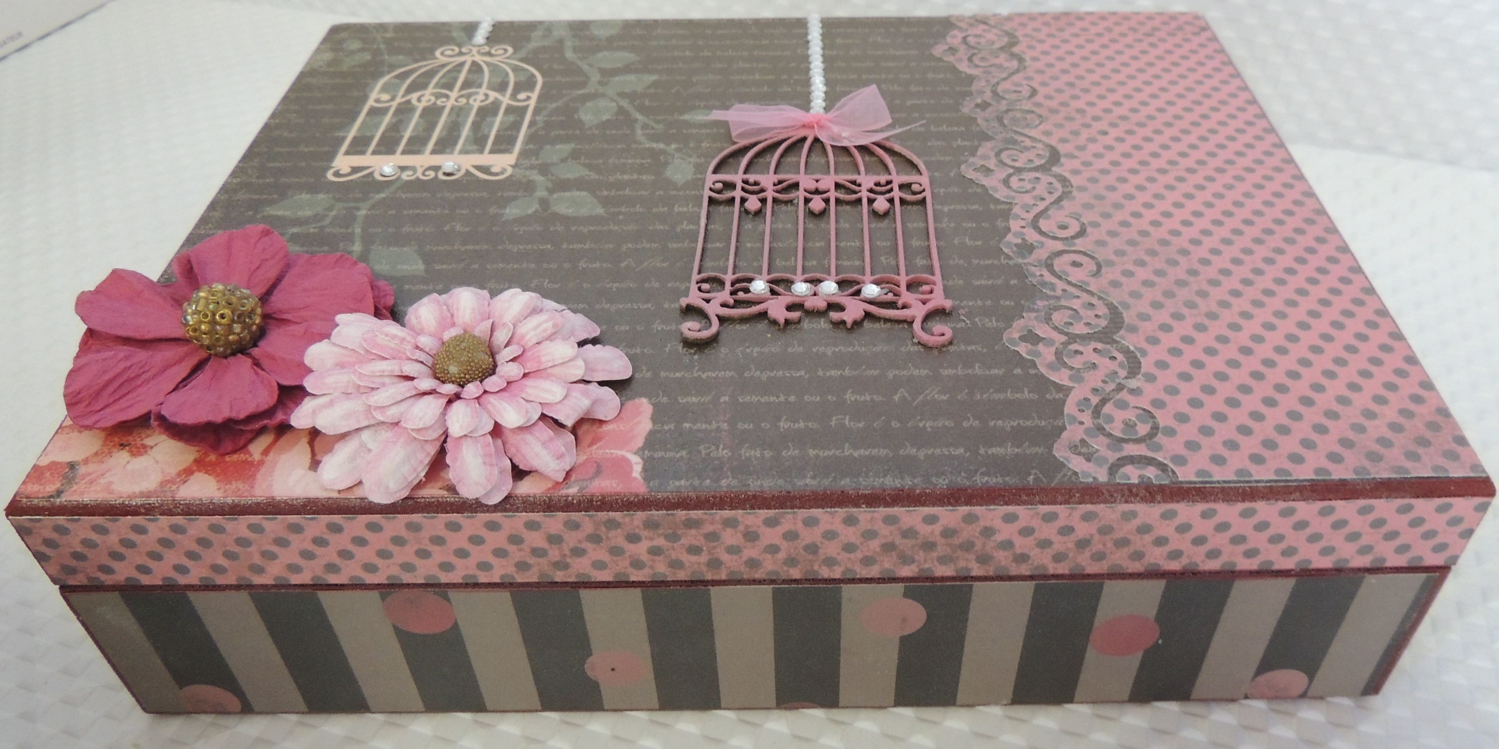 MDF decorada no estilo ScrapDecor Caixas Decoradas Pinterest #8C3F53 3015x1507