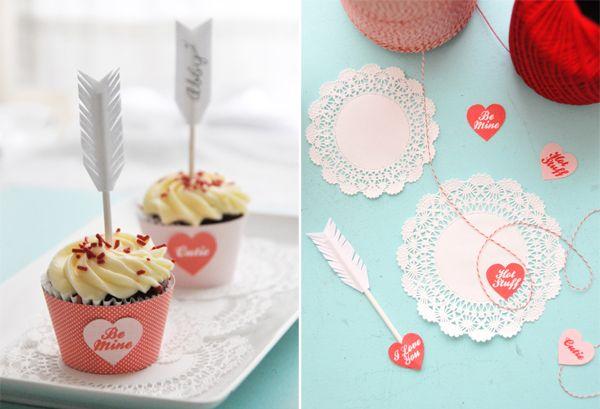 ERMERGERD the arrowed cupcakes!
