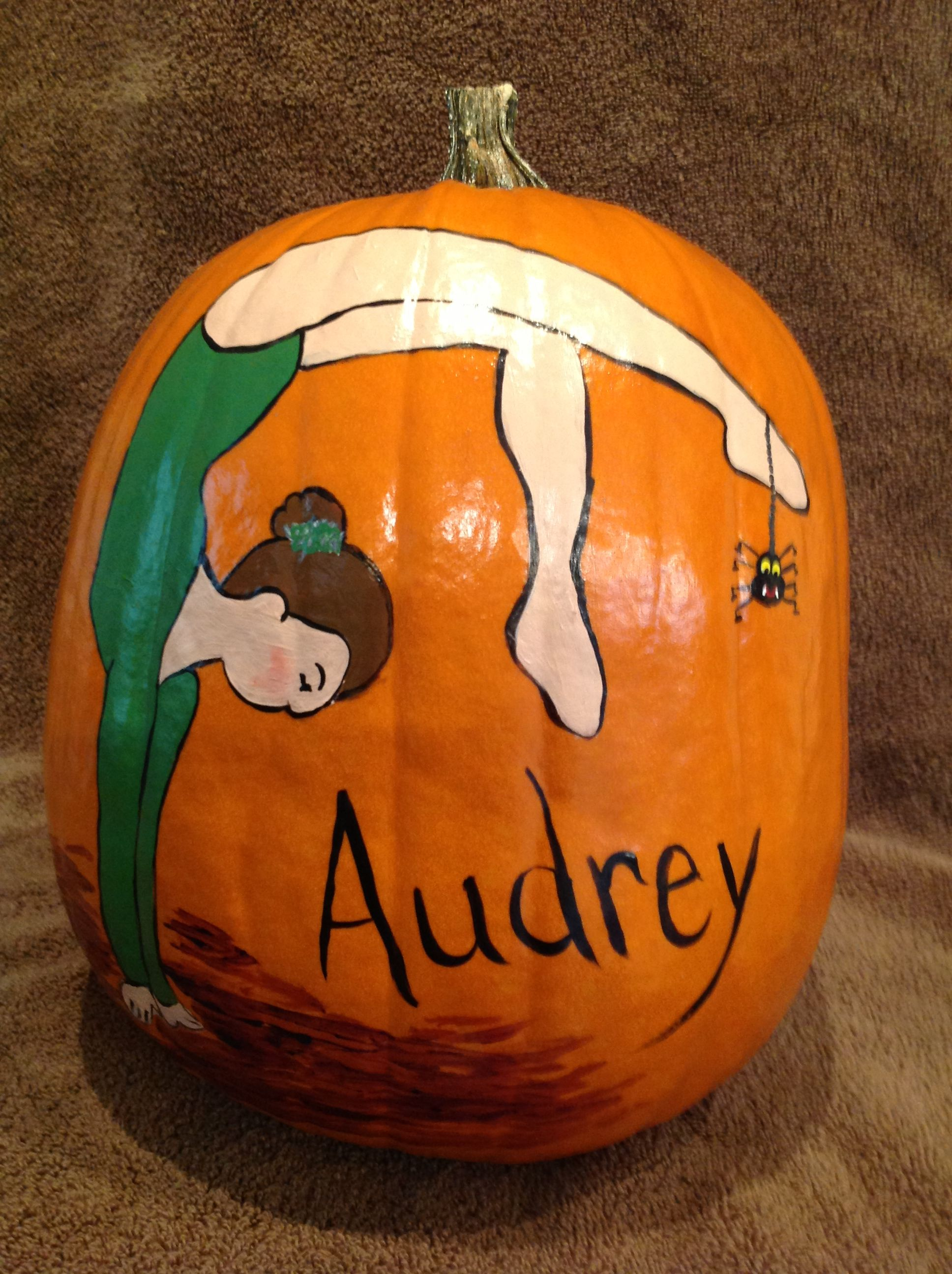 Gymnast Painted Pumpkinshalloween