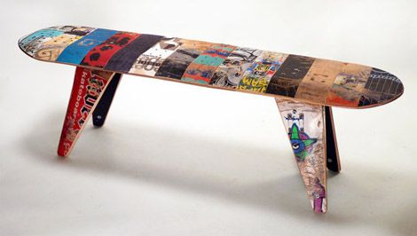 Skateboard Bench For Boy S Room Skateboard Furniture Skateboard Room Skateboard