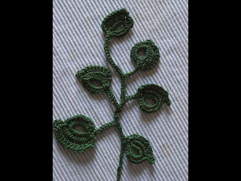 Kleines Blatt Häkeln Einfach Und Schnell Passend Zu Blumen