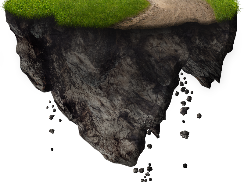 Floating Island With Falling Rocks Png Free Image Fall Rock Floating Image