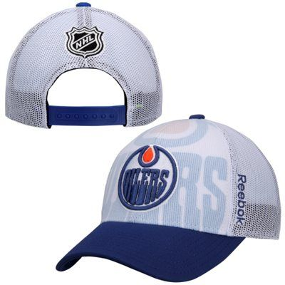Mens Edmonton Oilers Reebok White 2014 Nhl Draft Adjustable Hat Edmonton Oilers Oilers Hats For Men
