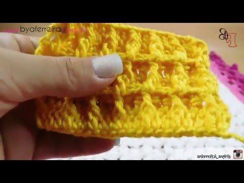 [Versão destro] #1 mostra de pontos em crochê - Ponto Waffle - YouTube