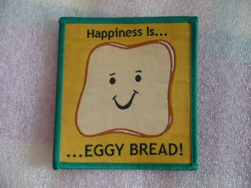 Happiness Is Eggy Bread Camp Blanket Badge Guides Scouts