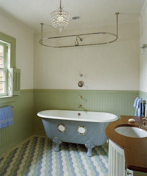 Salle De Bain Avec Bain Sur Pattes #5: Donnez à Votre Salle De Bains Un Relooking Vraiment Vintage Avec La  Baignoire Sur Pattes Peint