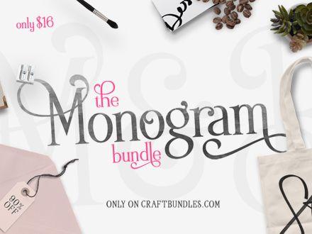 Download Monogram Bundle | Monogram fonts, Cricut monogram font ...