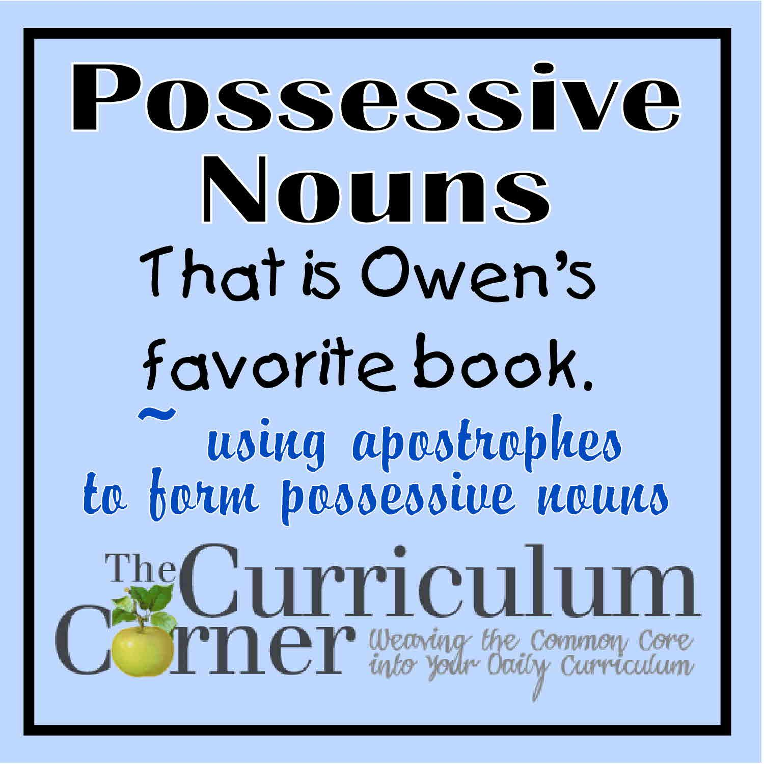 Apostrophes To Show Possession