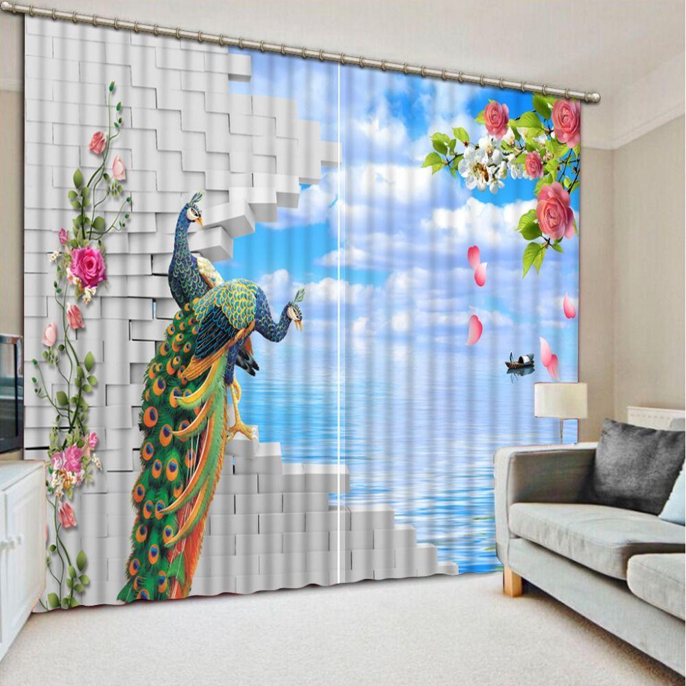 Wonderful Peacock Bedroom Curtains
