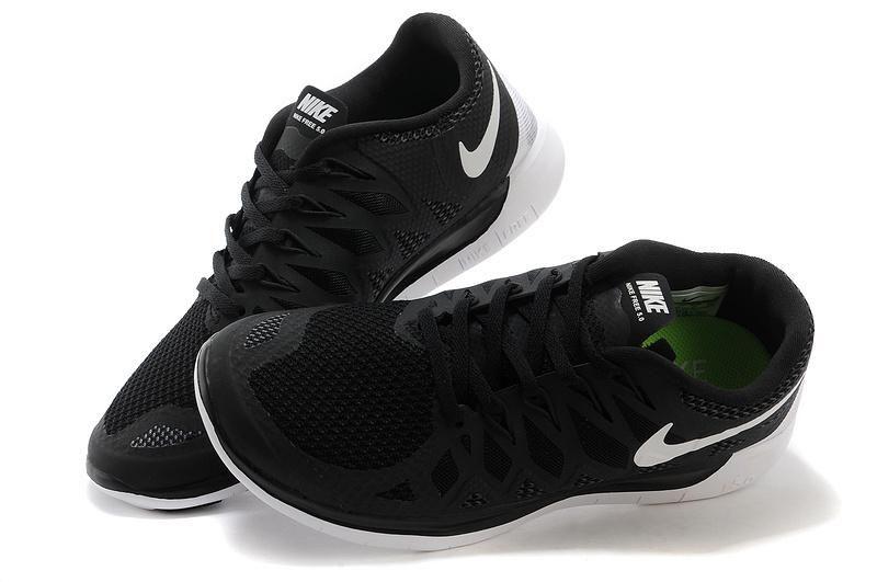 Nike Free 5.0 Running Shoes Unisex Black White