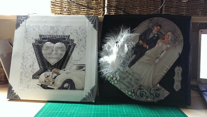 Commission for a silver wedding card.