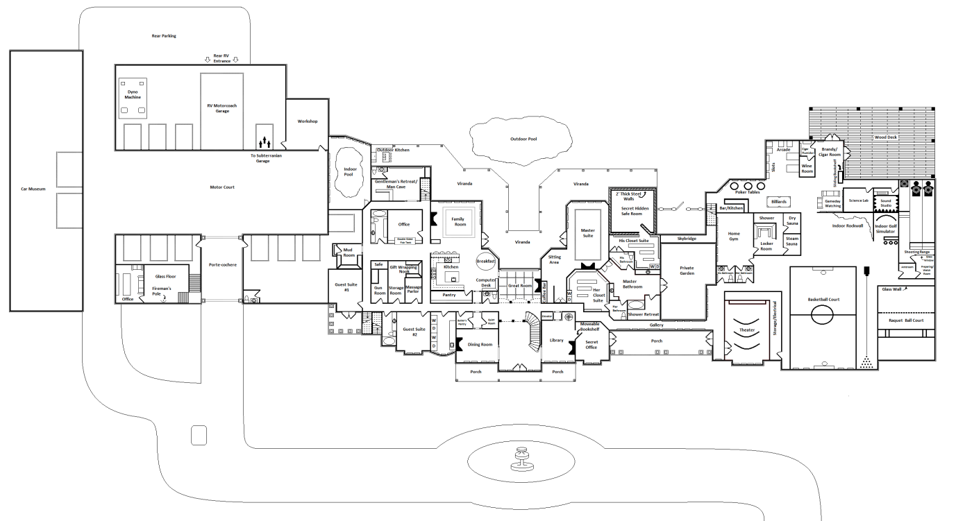 ultimate mega mansion floor plans | votes, 2.00 avg ...