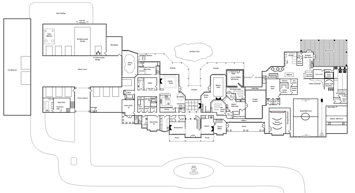 ultimate mega mansion floor plans