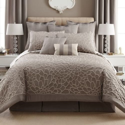 comforter set scotts piece collections combed california calking ivory cotton large sales sets striped cal king