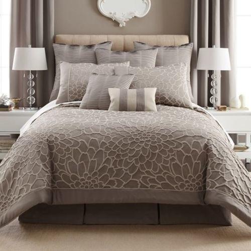 Liz Claiborne Kourtney Cal King Comforter Bedding Set Euro Pillows 5 Pcs 239 Home Comforter Sets Comforter Bedding Sets