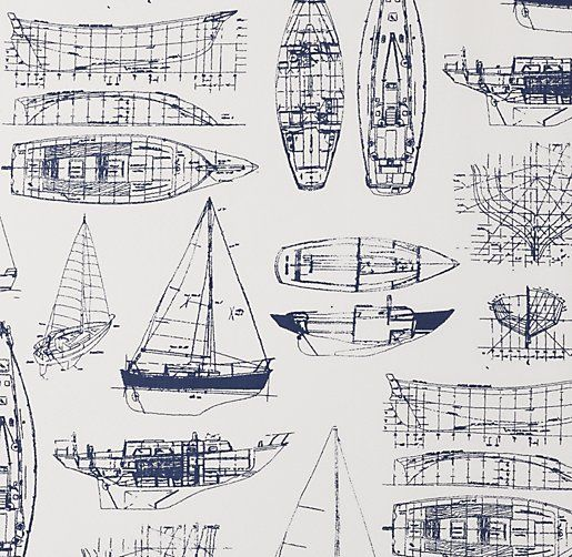 European Vintage Sailboat Blueprint Bedding Swatch boys room - fresh apprendre blueprint ark
