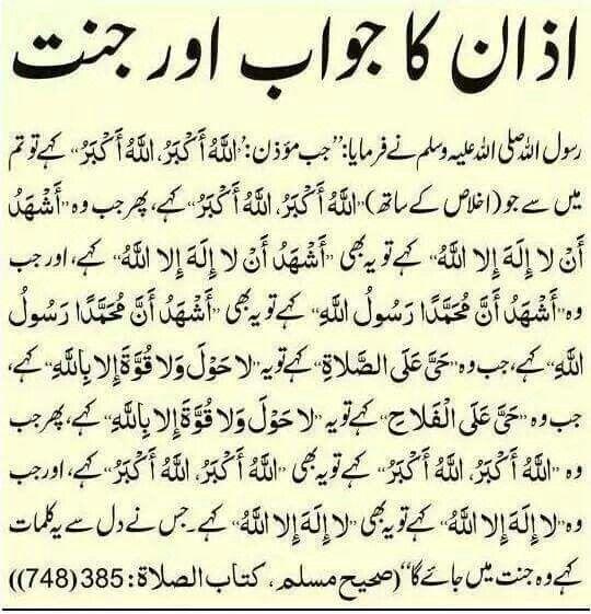 Give answer on azan | Islam | Islamic qoutes, Quran pak, Islamic