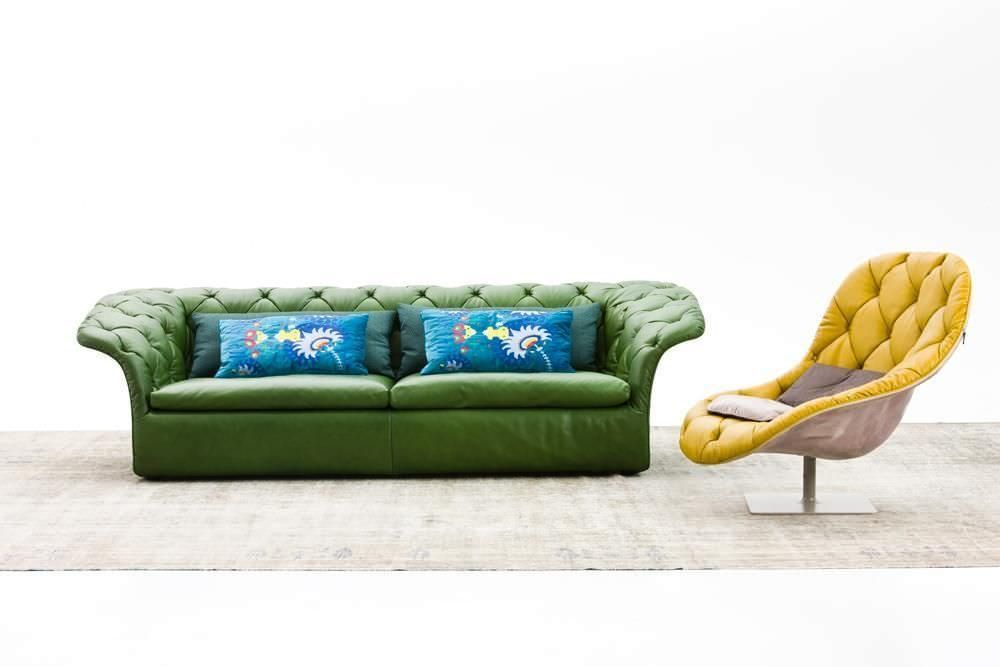 Compact sofa / contemporary / leather / fabric - RICH - MOROSO