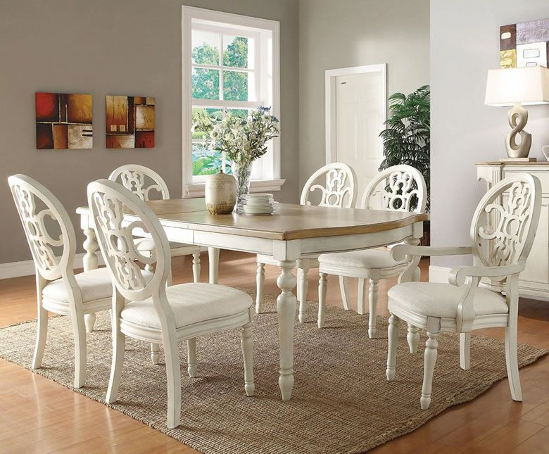 White Dinette Sets | White Dining Set | Traditional Furniture For Formal  Dining Room