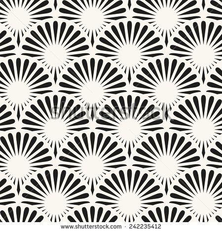 Japanese seamless pattern  Stylish texture with ornate circles
