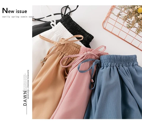high waist stretch chiffon shorts