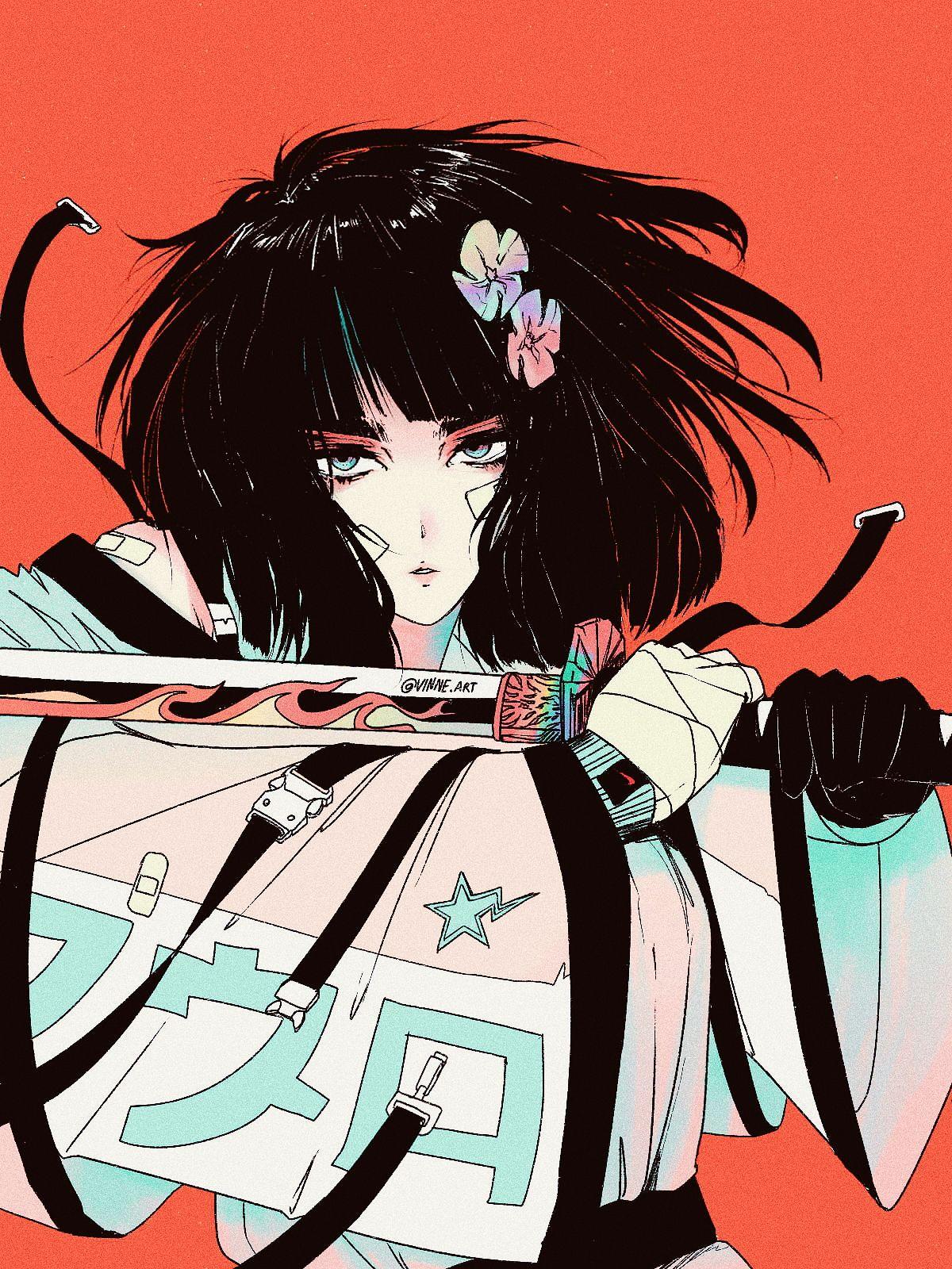 Pin By Ana Skye On Art Cute Art Samurai Art Anime Art Girl