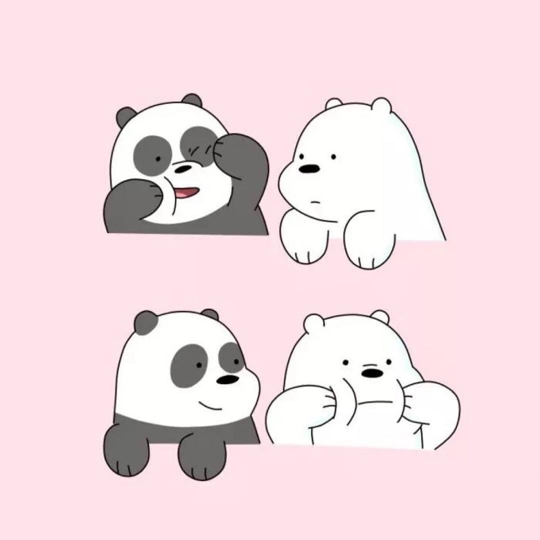 """We Bare Bears on Instagram: """"Tag somebody you love so much 💗💗💗"""""""