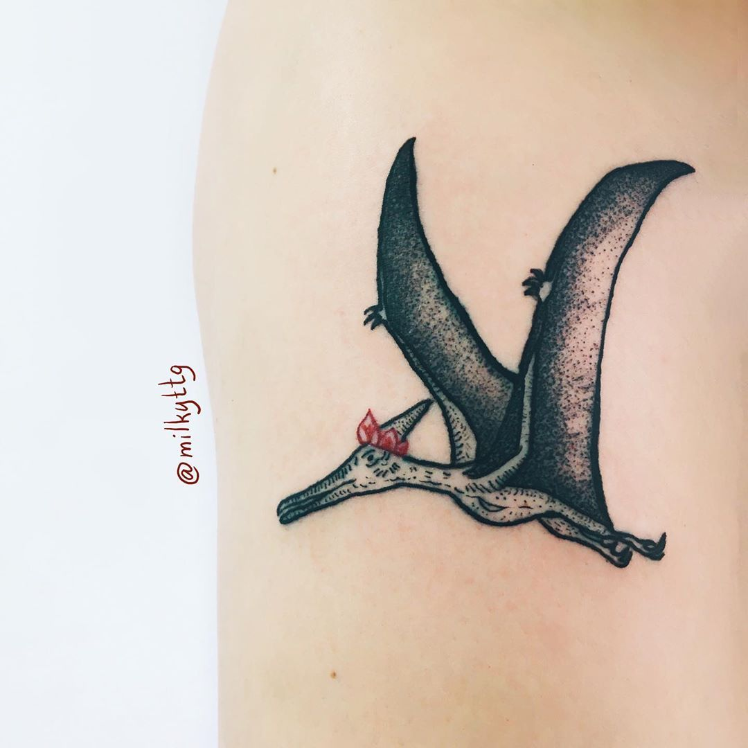 Принц птеродактилей Ксавье 🤴🏻⠀ ⠀ Люба, спасибо за доверие)🖤⠀ ⠀ ⠀ #tattoomoscow #tattoo #moscowtattoo #2020 #tattoodesign #tattooartist  #inkpplcom #inked #inkedmag #tattoidea #tattooing #татумосква #engraving #redandblack #black #art #inkstagram #russiantattoo #tattooflash #tattooworkers #tattooer #tattoos #moscow #москва #татуировка