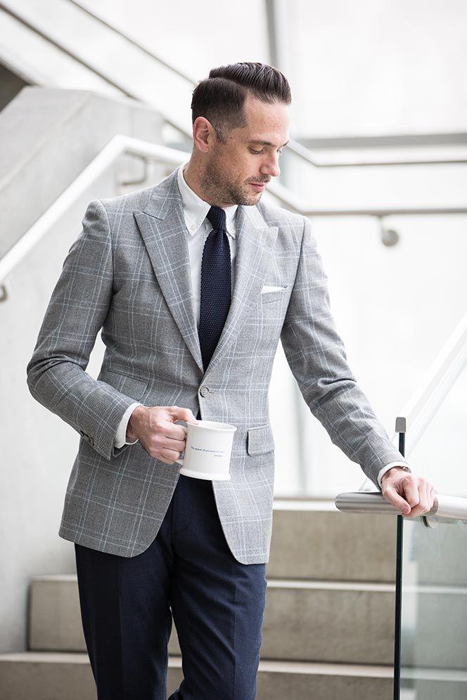 0377b3a4664 mens plaid Reiss blazer business casual outfit ideas for spring