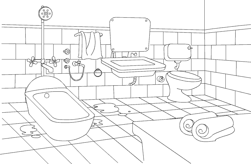 Color Bathroom Preschool Printable Coloring Pages Coloring Pages Worksheets Free Color