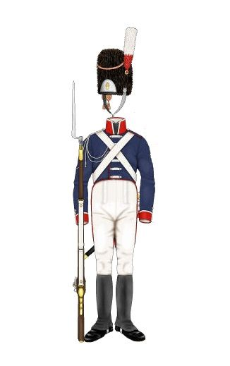 Baden - Guardia - Leib-Grenadier-Garde - Guardia - Alta uniforme - 1809-13 (Traitteur)