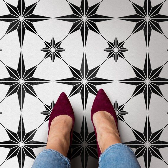 Star Tile Stencil Geometric Cement TILE STENCIL for Painting   Etsy Gallery