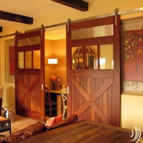 Sliding Barn Doors On Entertainment Rooms Eclectic Home Theater