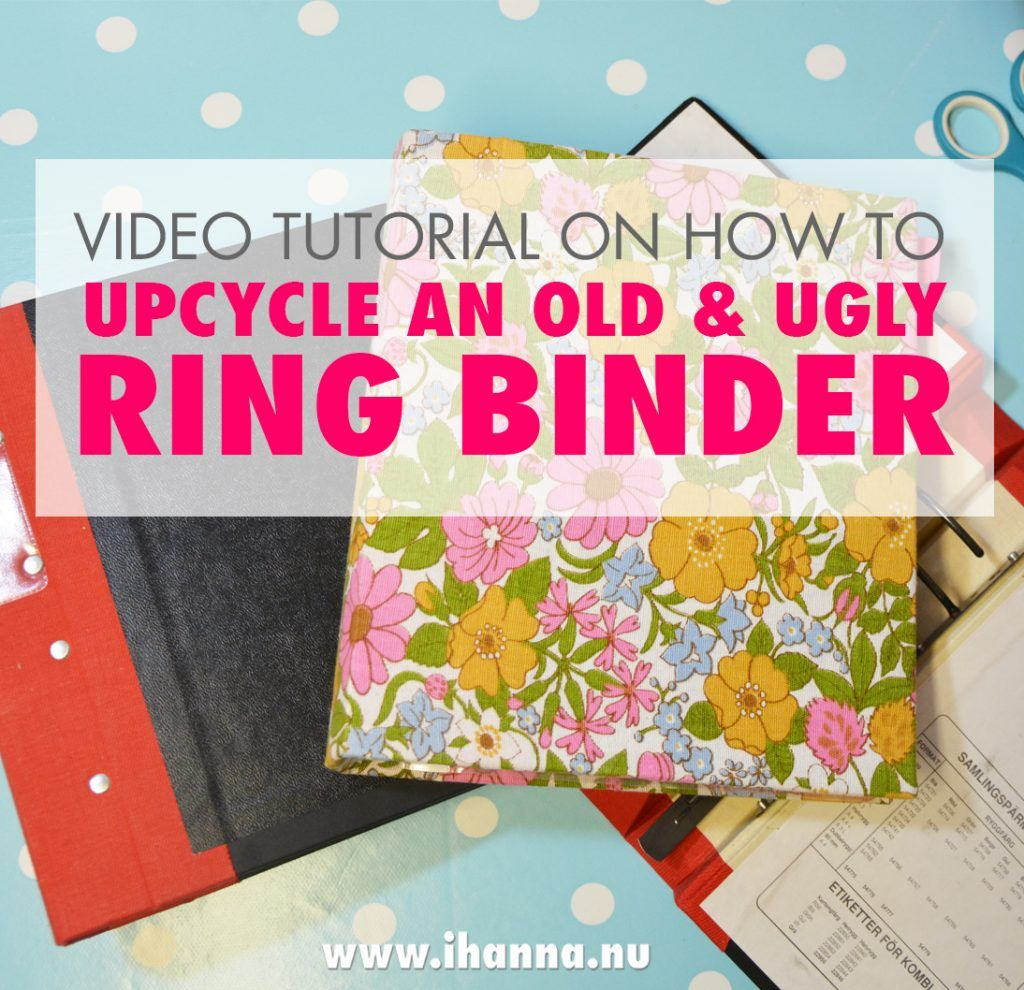 How To Cover An Old Ring Binder With Beautiful, Vintage