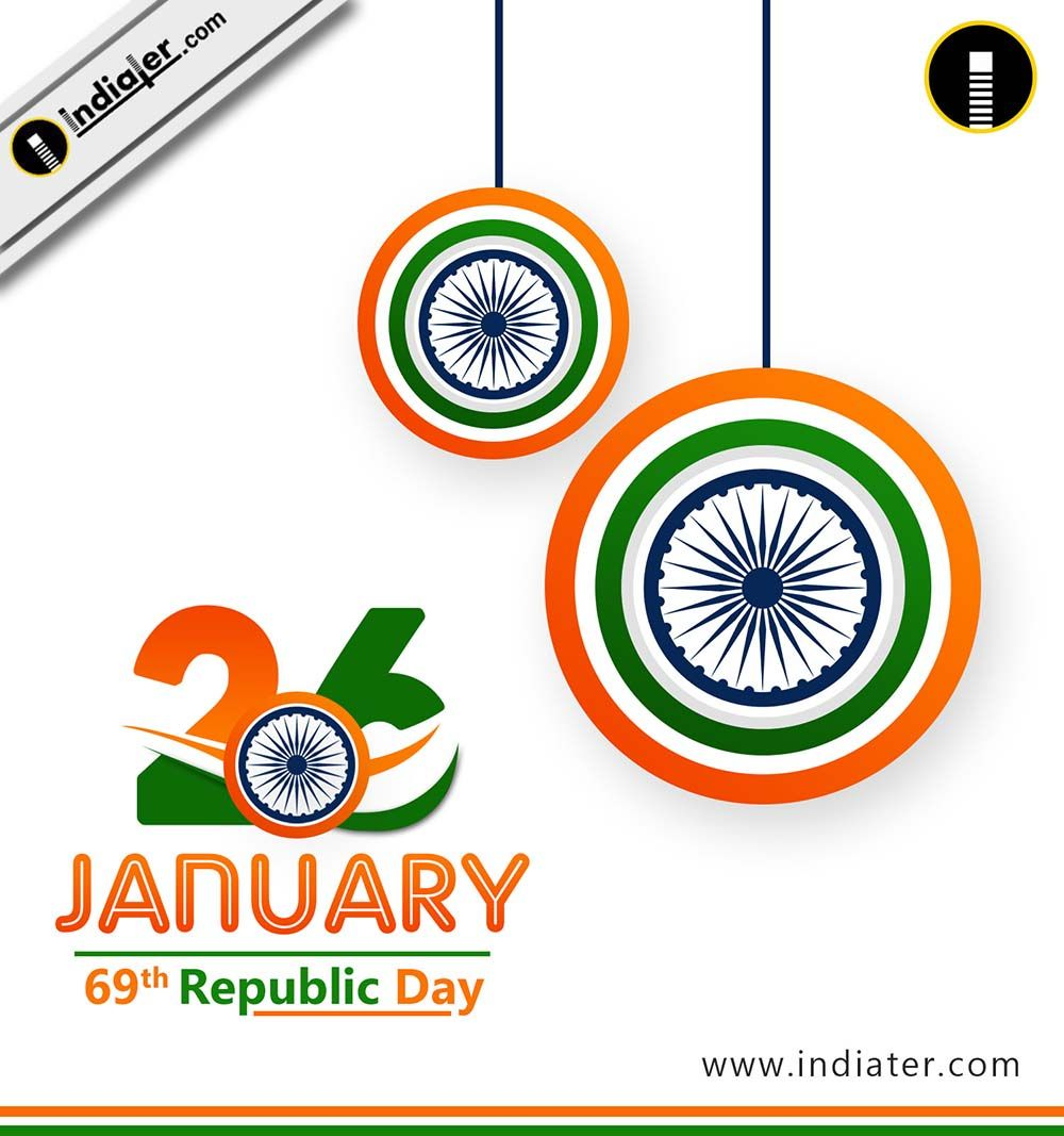 Happy republic day posters and banners backgrounds psd