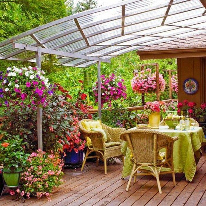 Mein schöner garten mit bepflanzung rattan möbel terasse - ideen terrasse outdoor mobeln