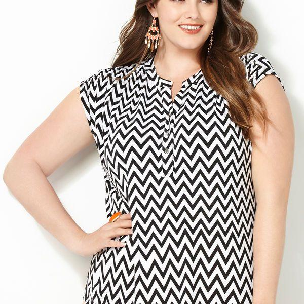 Chevron Shirt-Plus Size Shirt-Avenue