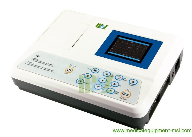 3 Channel Digital Portable Ekg Machines Affordable Portable Ecg Machine Mslec16 Ekg Portable Lcd
